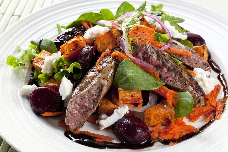 Lamb & Cajun Sweet Potato Salad