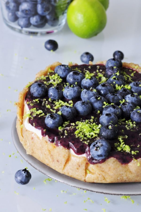 Blueberry Cheesecake with Lime