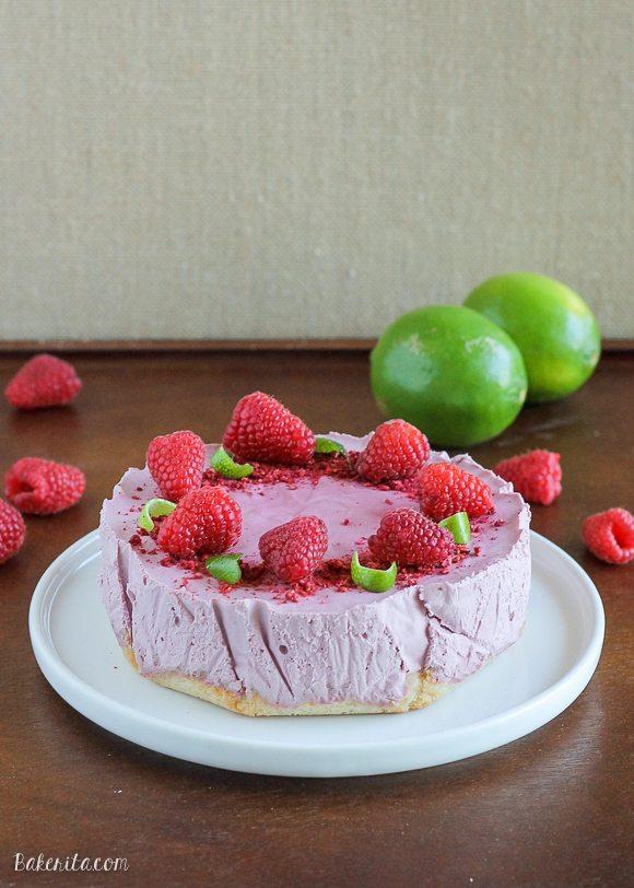 Raspberry Lime Cheesecake