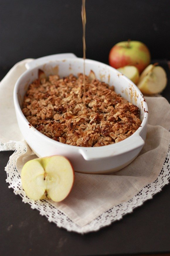 Cider Caramel Apple Crisp