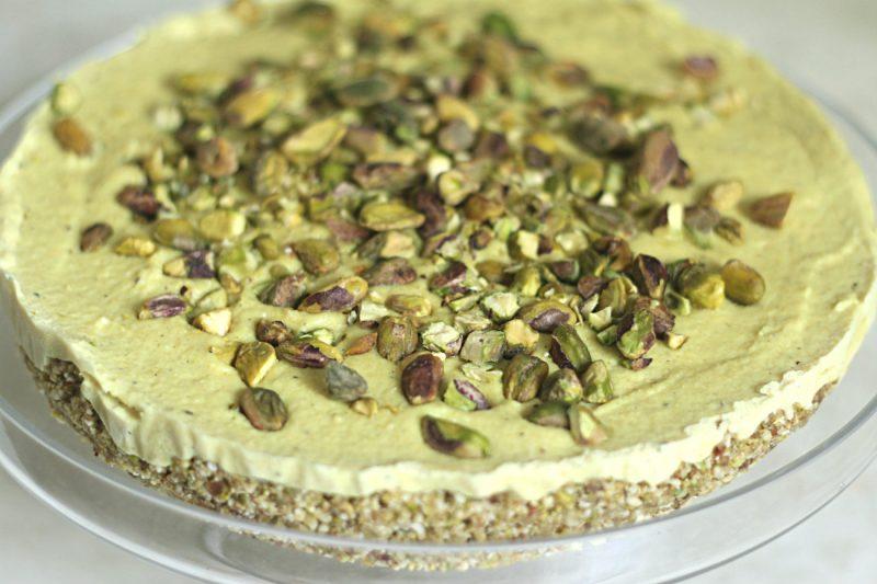 Turmeric, Cardamom and Pistachio Cheesecake