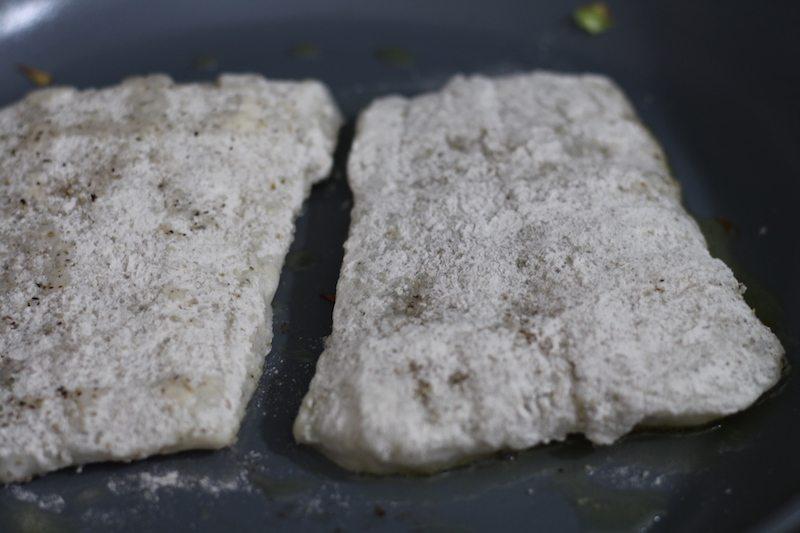 crispy cod frying