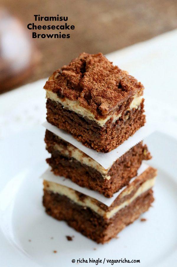 Tiramisu Cheesecake Brownies