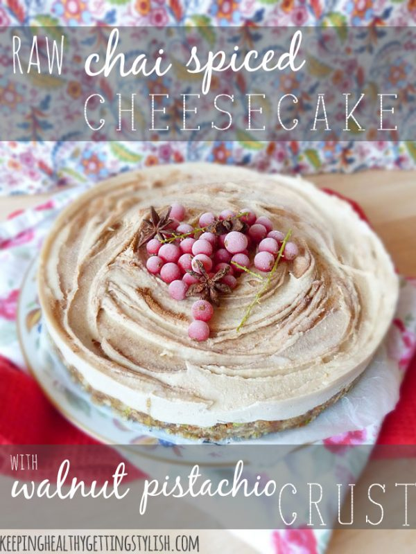 Raw Chia Spiced Cheesecake