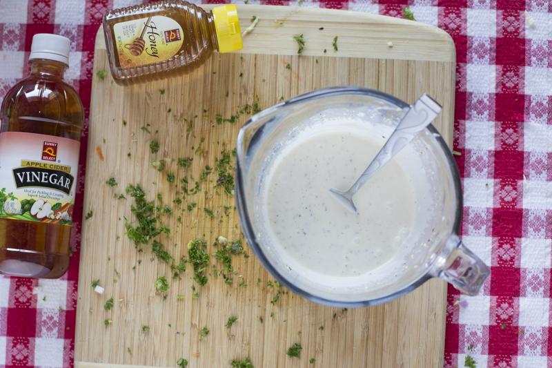 Coleslaw Dressing Honey Vinegar Pyrex Cutting Board
