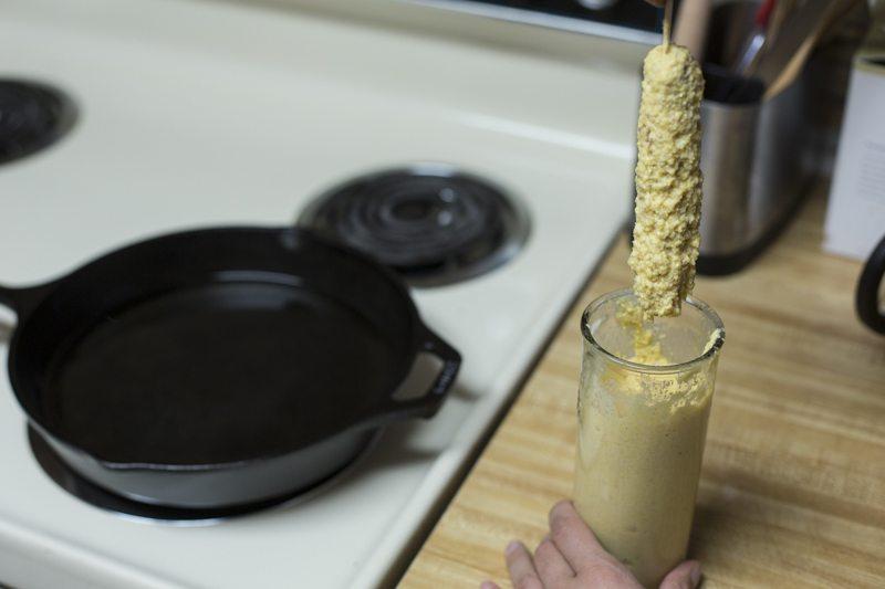 Corn Dog Prep Stove Dip Oil Cast Iron Glass