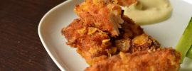Spicy-Hot Crunchy-Fried Corn Flake Chicken Strips