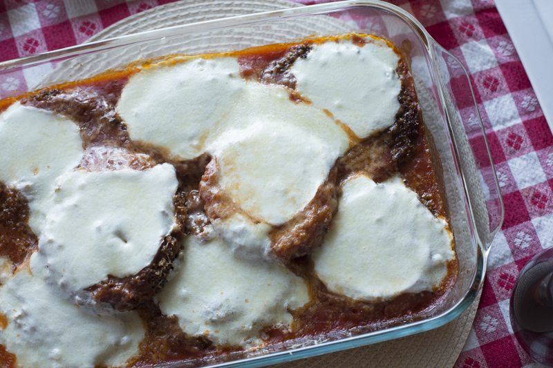 Eggplant Parmesan Melted Cheese Dinner Dish Baked