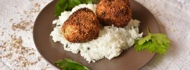 Quick Lentil Falafel with Basmati Rice
