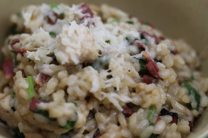 Spinach, Bacon, & Chicken Risotto from Create Craft Love Reviewed