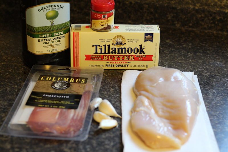 prosciutto-sage chicken ingredients