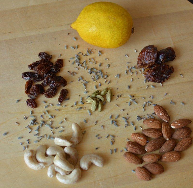 Ingredients for Raw Vegan Lavender Cake