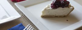 Quick No-Bake Cheesecake with Cherry Compote