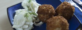 Quick Fried Arancini with Fennel Salad