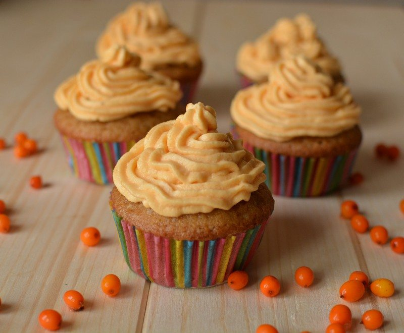 Sea Buckthorn Cupcakes