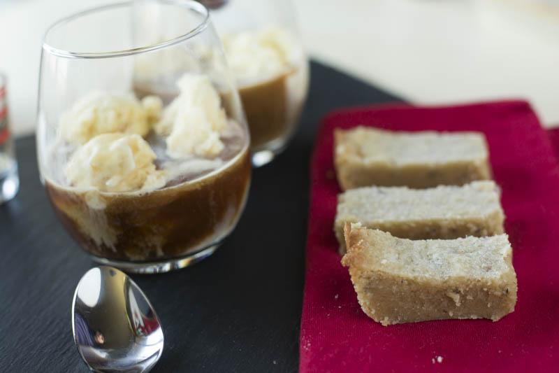 Affogato with Lavender Shortbread, and Cynar Recipe