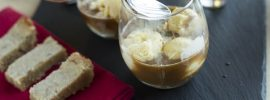 Affogato with Lavender Shortbread, and Cynar