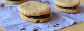Quick Almond Biscuits with Chocolate Espresso Cream