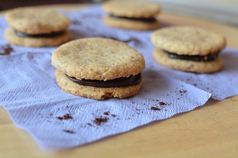 Almond Biscuits with Chocolate Espresso Cream