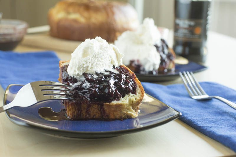 Baba Rhum with Rum-poached Cherries and Chantilly Cream
