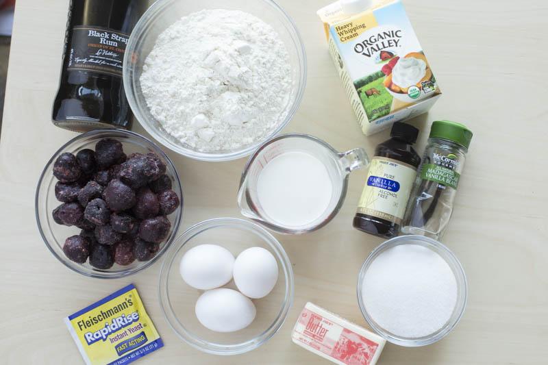 baba-rhum-rum-poached-cherries-chantilly-cream-ingredients