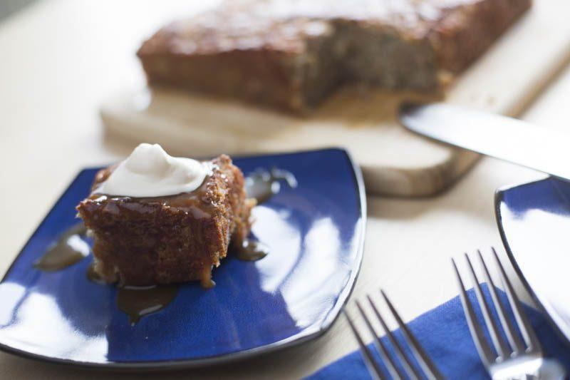 Banana Pudding Cakes with Cognac Butterscotch Sauce