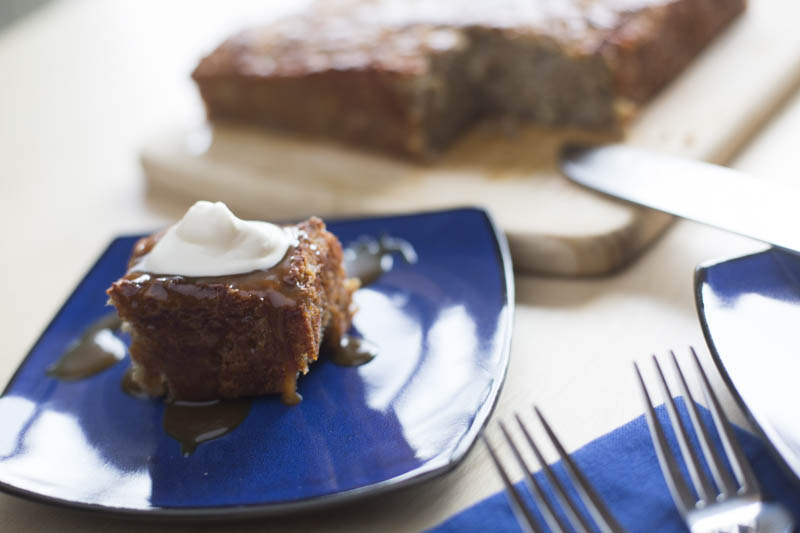 Banana Pudding Cakes with Cognac Butterscotch Sauce Recipe