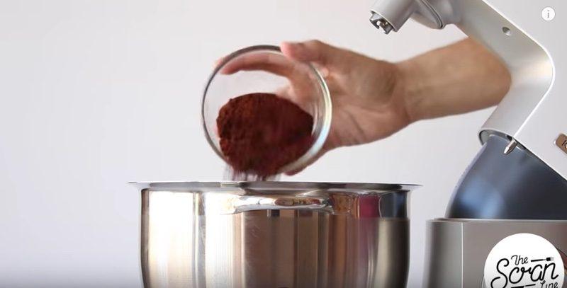 Chocolate Mint Cream Cupcakes dry