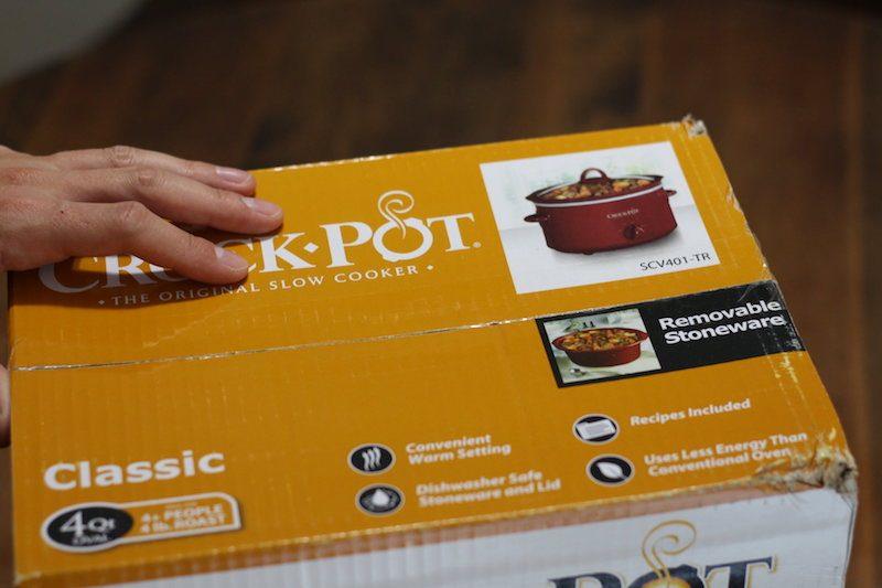 Crock-Pot 4 Quart Red box