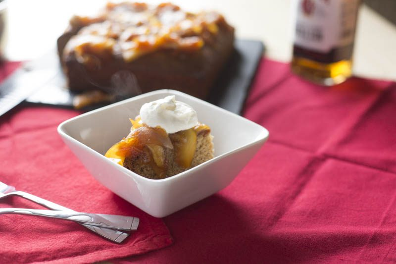 Honey Ginger Cake with Whiskey-Caramelized Apples
