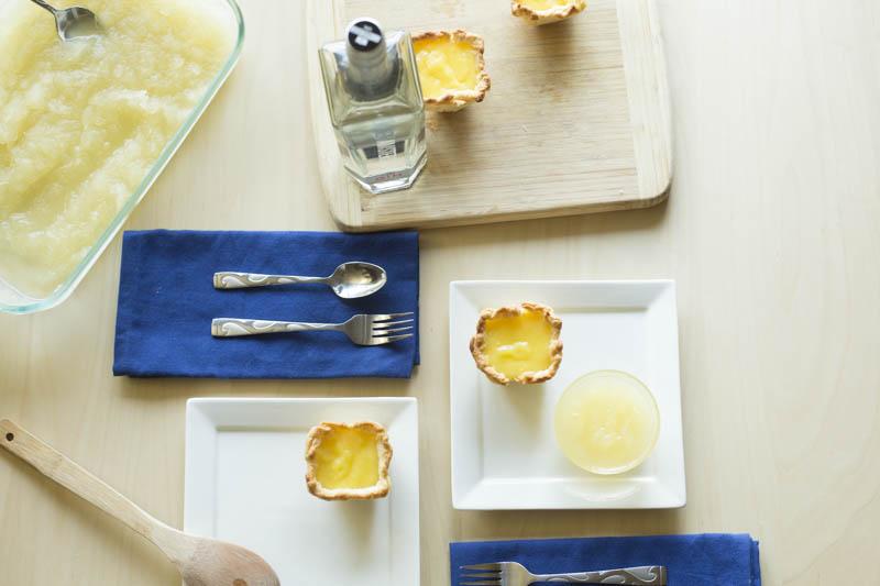 Lemon Olive Oil Tart with Basil and Gin Granita Recipe