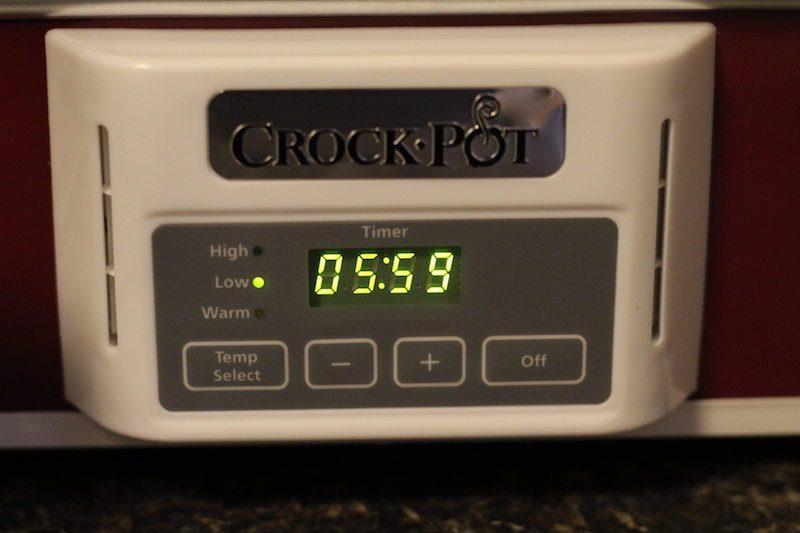 crock pot 3.5 quart timer