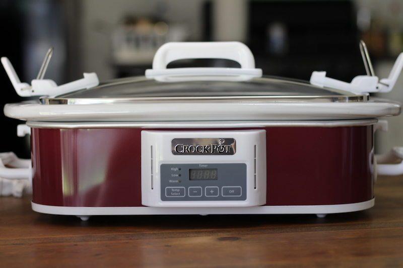 crock pot casserole 3.5 quart front blur