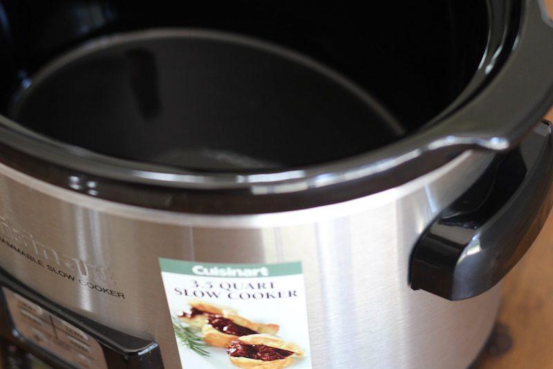 cuisinart 3.5 quart silver open