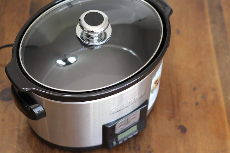 cuisinart 3.5 quart silver top view