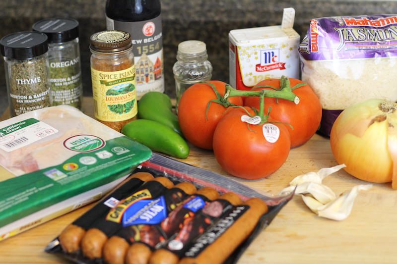slow cooker jambalaya ingredients