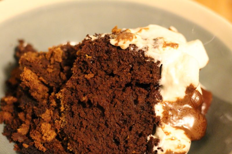Slow Cooker Gooey S'more Brownies