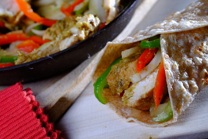 yummy chicken fajitas