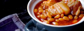 Smoky Slow Cooker Pork & Beans