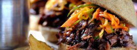 Slow Cooker Beef Bulgogi Sliders with Kimchi Slaw