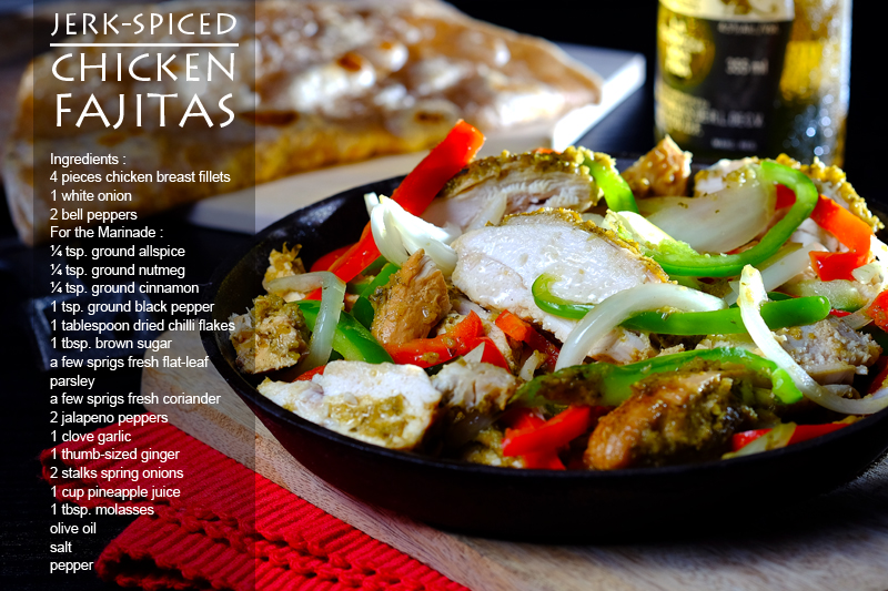 Jerk-Spiced Chicken Fajitas Recipe Infographic