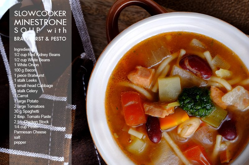 Slow Cooker Minestrone Soup with Bratwurst and Pesto Final 5