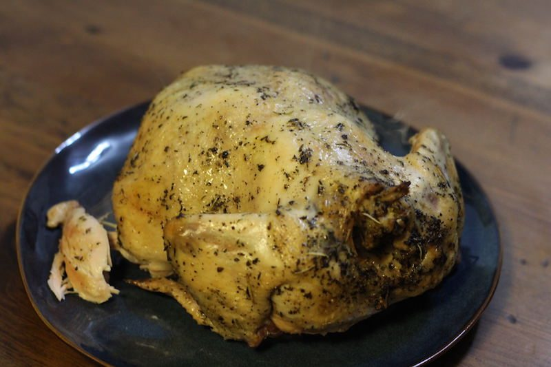 Slow Cooker Lemon Herb Whole Chicken With Blonde Ale