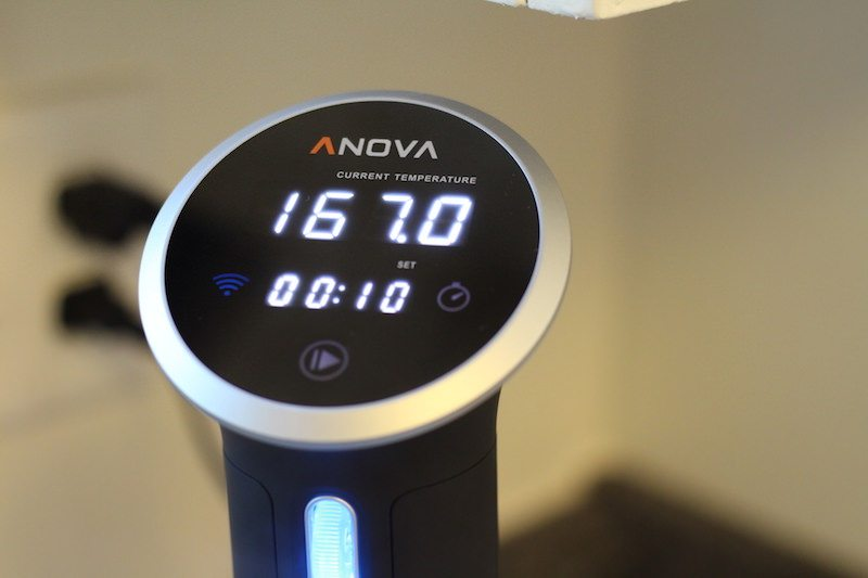 anova cooking temperature time settings