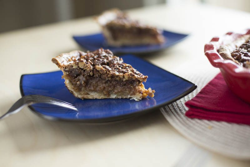 Bourbon Maple Pecan Pie with Homemade Pie Crust