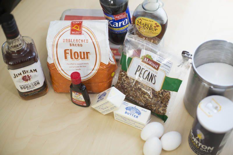 Bourbon Maple Pecan Pie with Homemade Pie Crust Ingredients