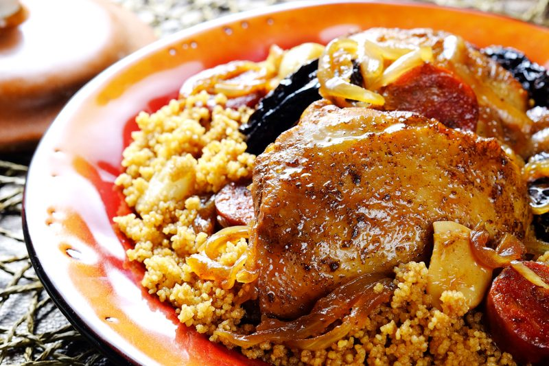 Slow Cooker Chicken Tagine with Spanish Chorizo and Sun-Dried Tomatoes