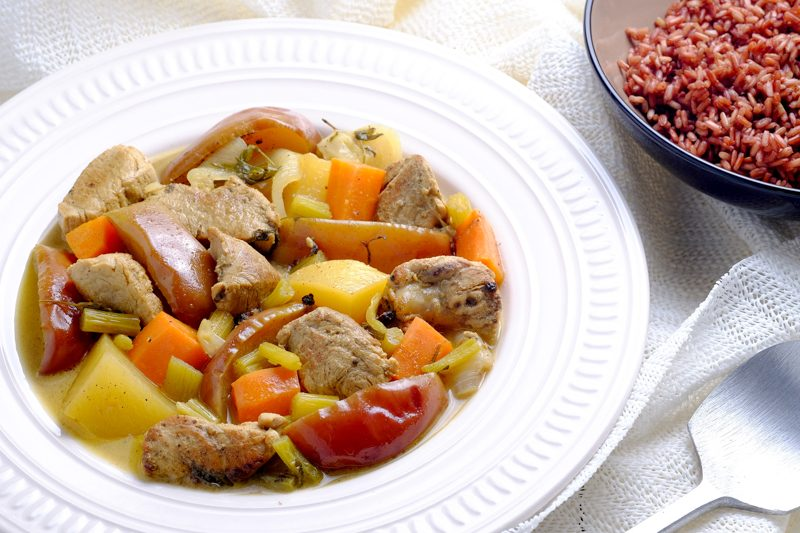 Slow Cooker Pork and Apple Stew