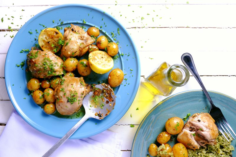 Slow Cooker Lemon Chicken and Potatoes Recipe
