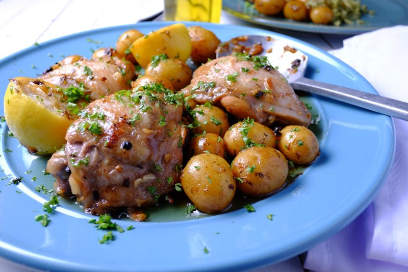 Slow Cooker Lemon Chicken and Potatoes ZOOM